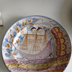 Antigüedades: RIBESALBES, ESPECTACULAR PLATO SIGLO XIX, DE 35 CM DIÁMETRO. Lote 236893990