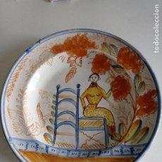 Antiquités: RIBESALBES, ESPECTACULAR PLATO SIGLO XIX, DE 35 CM DIÁMETRO. Lote 236894220