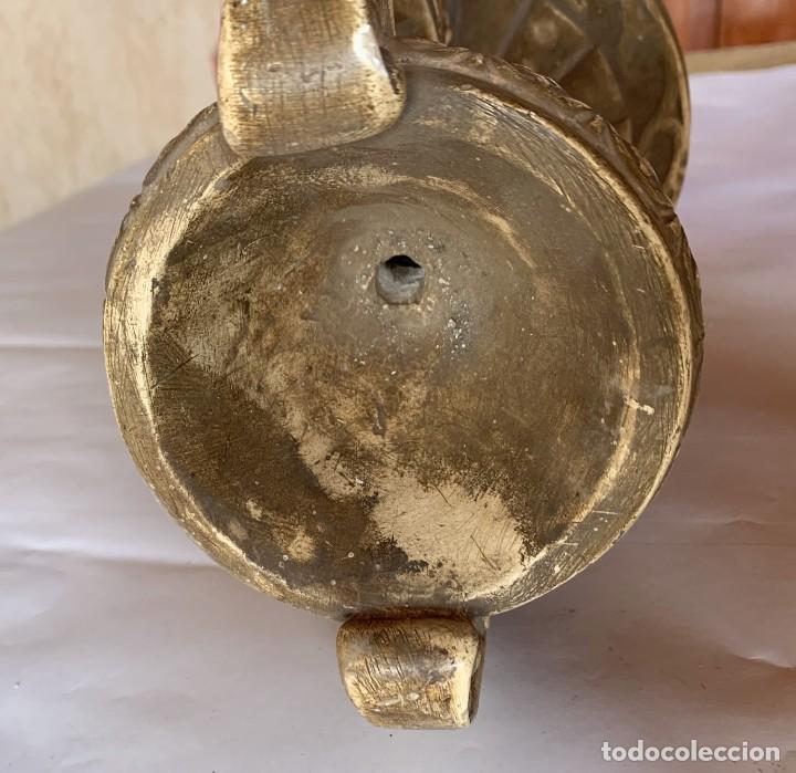 Antigüedades: PAREJA DE JARRONES ANTIGUOS DE ESTUCO . VIRGEN DEL PILAR . CERAMICA ARAGONESA . ZARAGOZA . - Foto 14 - 236911930