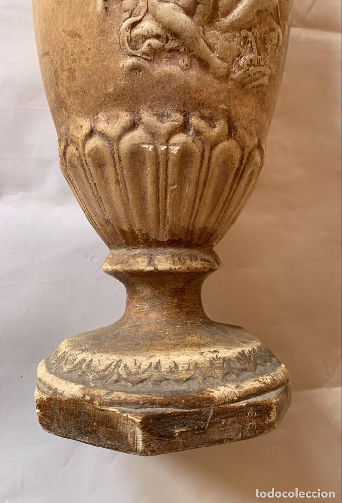Antigüedades: PAREJA DE JARRONES ANTIGUOS DE ESTUCO . VIRGEN DEL PILAR . CERAMICA ARAGONESA . ZARAGOZA . - Foto 18 - 236911930