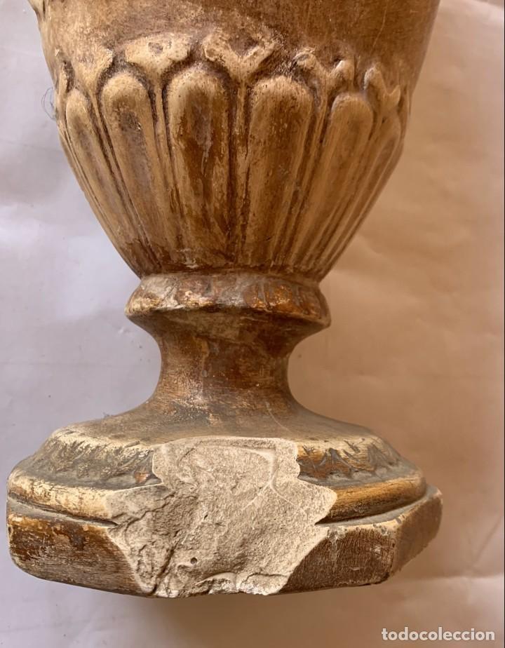Antigüedades: PAREJA DE JARRONES ANTIGUOS DE ESTUCO . VIRGEN DEL PILAR . CERAMICA ARAGONESA . ZARAGOZA . - Foto 21 - 236911930