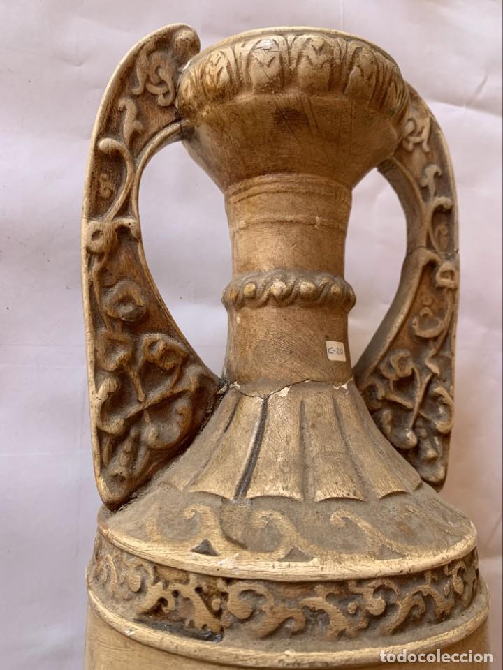 Antigüedades: PAREJA DE JARRONES ANTIGUOS DE ESTUCO . VIRGEN DEL PILAR . CERAMICA ARAGONESA . ZARAGOZA . - Foto 22 - 236911930