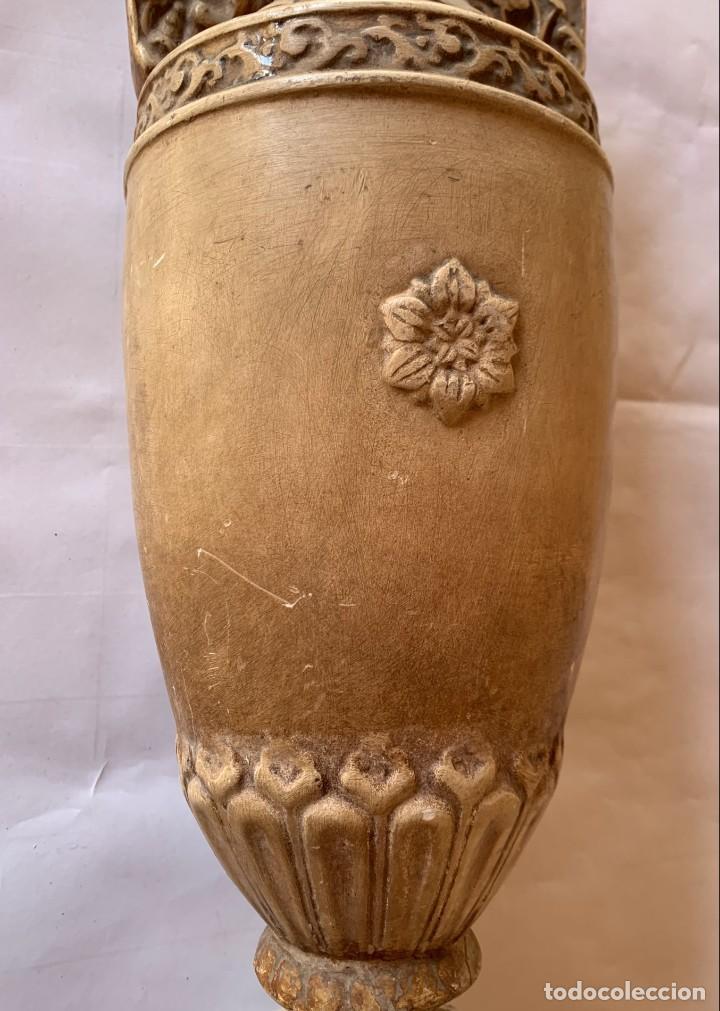 Antigüedades: PAREJA DE JARRONES ANTIGUOS DE ESTUCO . VIRGEN DEL PILAR . CERAMICA ARAGONESA . ZARAGOZA . - Foto 23 - 236911930