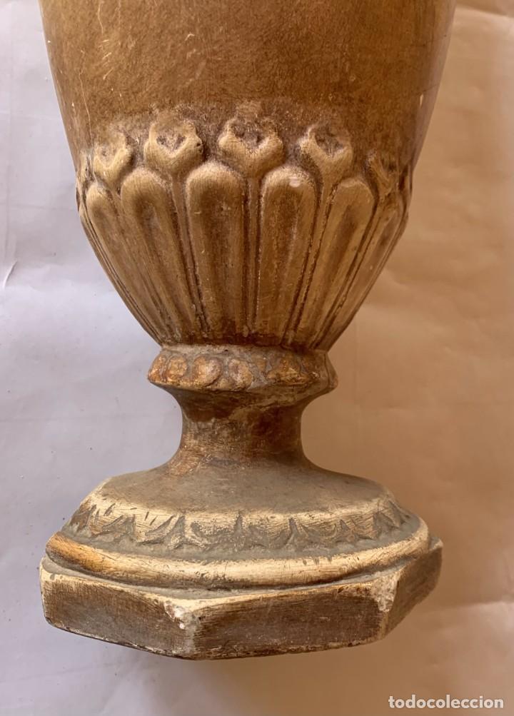 Antigüedades: PAREJA DE JARRONES ANTIGUOS DE ESTUCO . VIRGEN DEL PILAR . CERAMICA ARAGONESA . ZARAGOZA . - Foto 24 - 236911930