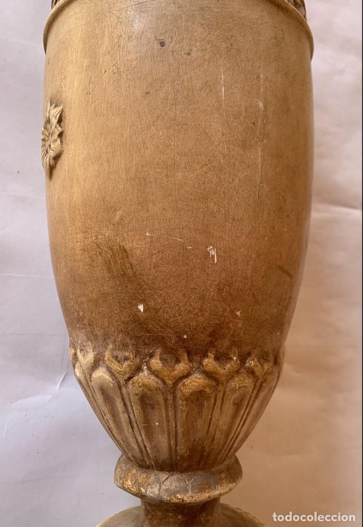 Antigüedades: PAREJA DE JARRONES ANTIGUOS DE ESTUCO . VIRGEN DEL PILAR . CERAMICA ARAGONESA . ZARAGOZA . - Foto 26 - 236911930