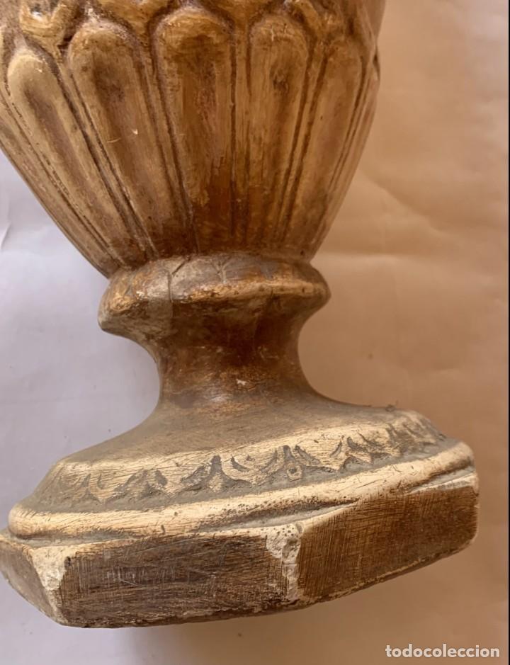 Antigüedades: PAREJA DE JARRONES ANTIGUOS DE ESTUCO . VIRGEN DEL PILAR . CERAMICA ARAGONESA . ZARAGOZA . - Foto 27 - 236911930
