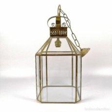 Antigüedades: LANTERN-STYLE SPANISH PENDANT LAMP. Lote 236913670