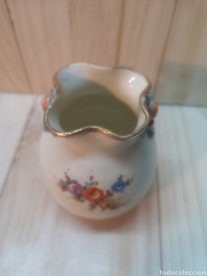 Antigüedades: Precioso jarroncito de porcelana española A. Peyro - Foto 2 - 236915830