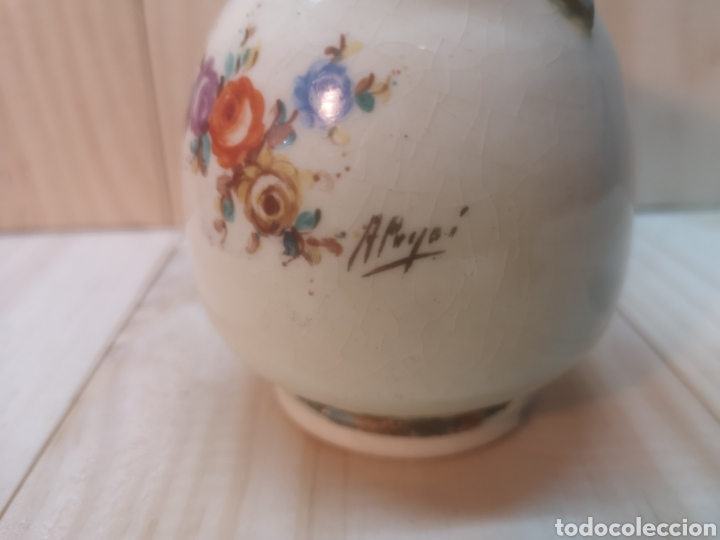 Antigüedades: Precioso jarroncito de porcelana española A. Peyro - Foto 3 - 236915830