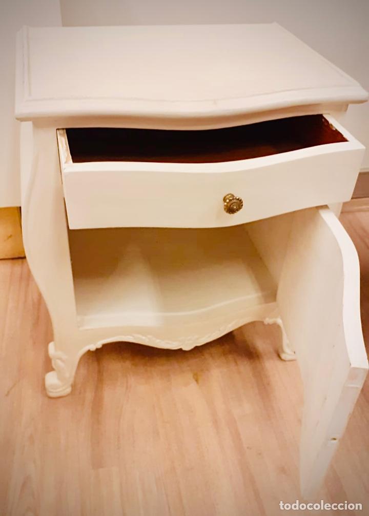 Antigüedades: Dormitorio de madera de cerezo pintado en blanco - Foto 3 - 236931515