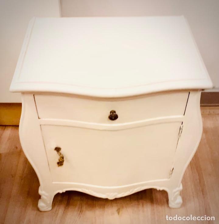 Antigüedades: Dormitorio de madera de cerezo pintado en blanco - Foto 2 - 236931515