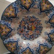 Antigüedades: GRANDE PLATO DE COLECION Y DECORACION PORCELANA M. CHINA HECHA A PINTURA EN RELIEVO. Lote 236947655