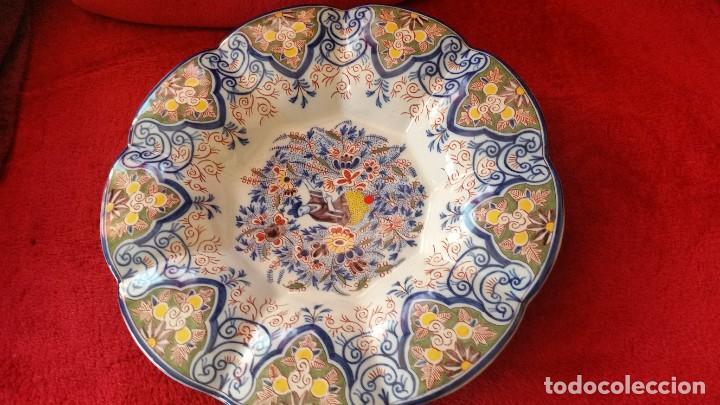 Antigüedades: GRANDE PLATO DE COLECION Y DECORACION PORCELANA M. CHINA HECHA A PINTURA EN RELIEVO - Foto 5 - 236947655