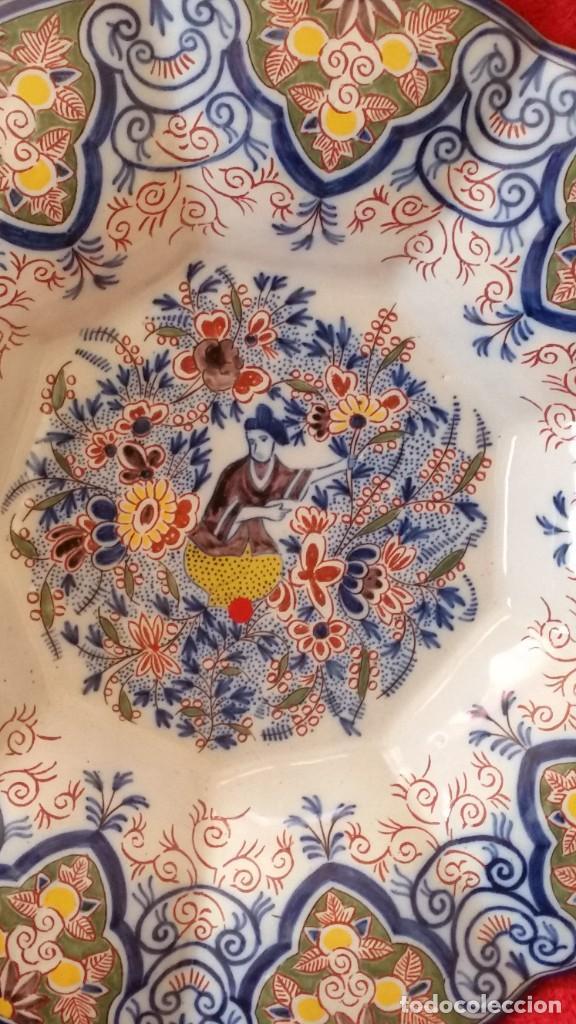 Antigüedades: GRANDE PLATO DE COLECION Y DECORACION PORCELANA M. CHINA HECHA A PINTURA EN RELIEVO - Foto 8 - 236947655