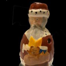 Antigüedades: PAPA NOEL ,CANDELABRO, VILLEROY BOCH, IMPECABLE. Lote 236990695