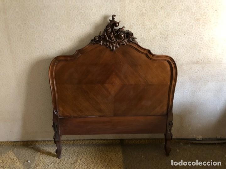 Antigüedades: 2 Cabezales y pie de camas individuales Antigua Luis XV. - Foto 2 - 236998090