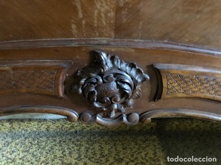 Antigüedades: 2 Cabezales y pie de camas individuales Antigua Luis XV. - Foto 7 - 236998090