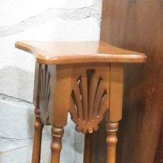 Antigüedades: BANCO DE MADERA ESTILO ART DECO. Lote 237068615