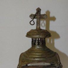 Antigüedades: FAROL ANTIGUO CRUZ EN LA PARTE SUPERIOR DE COLGAR. Lote 237072355