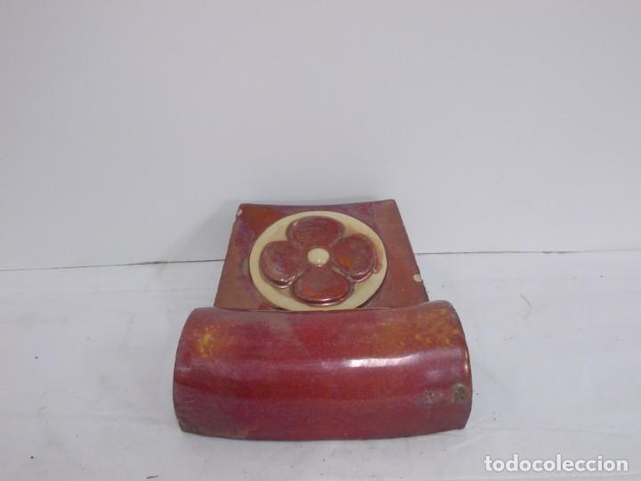 Antigüedades: MARAVILLOSA CLAVE DE ARCO PIEZA ARQUITECTONICA MODERNISTA CATALANA EN CERAMICA DE REFLEJO - Foto 6 - 237091120