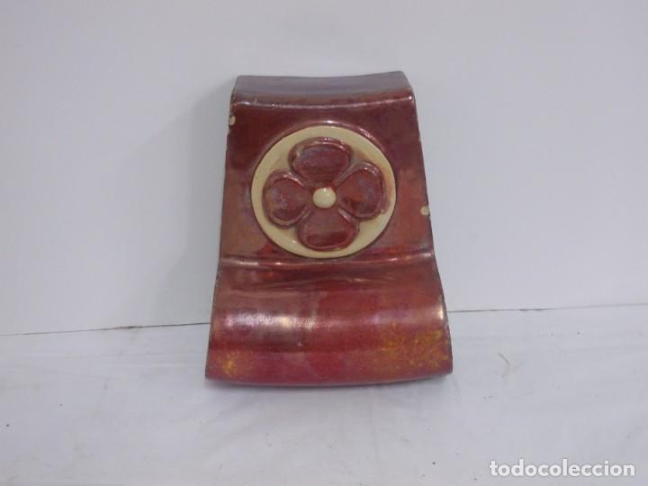 Antigüedades: MARAVILLOSA CLAVE DE ARCO PIEZA ARQUITECTONICA MODERNISTA CATALANA EN CERAMICA DE REFLEJO - Foto 7 - 237091120