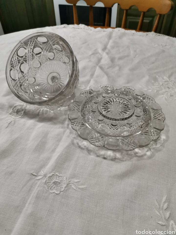 Antigüedades: Mantequillera vidrio prensado cristal de la granja - Foto 3 - 237097050