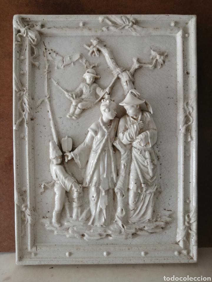PANEL CERÁMICO MOTIVOS CHINESCOS GRAN FORMATO (Antigüedades - Porcelanas y Cerámicas - Otras)