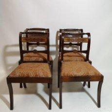Antigüedades: LOTE CUATRO SILLAS. Lote 237136545