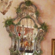 Antigüedades: ESPEJO MURANO CON COLOR. Lote 237155425