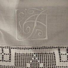 Antigüedades: SABANA Y ALMOHADON DE HILO FINO. Lote 237165565