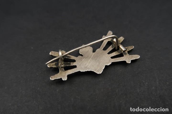 Antigüedades: Antiguo Broche Corazón con Puñales de Plata - Foto 5 - 237326480