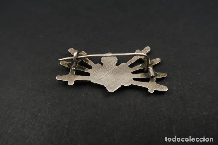 Antigüedades: Antiguo Broche Corazón con Puñales de Plata - Foto 7 - 237326480