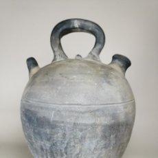 Antigüedades: ANTIGUO BOTIJO DE COLECCION-CANTIR -JOSE FONT-SERIGRAFIA TIPOGRAFICA CASTELLANO-VERDU. Lote 237379335