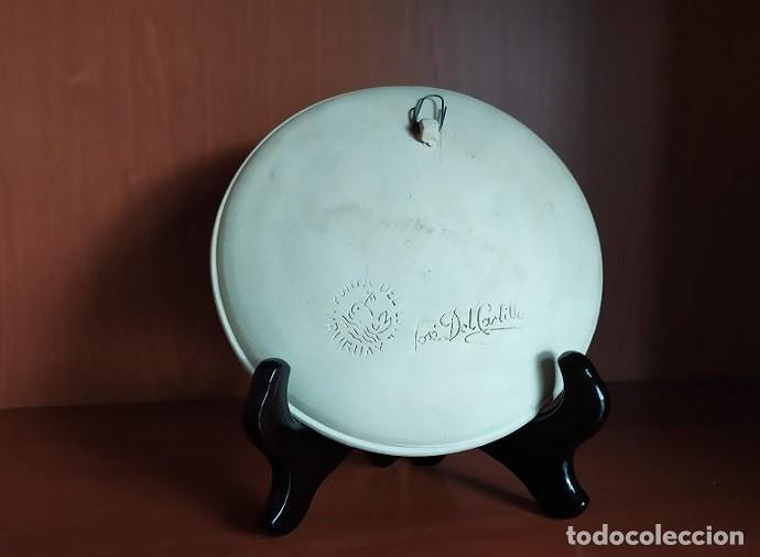 Antigüedades: PLATO DECORATIVO CERAMICA ESMALTE FILO ORO - Foto 3 - 237392215