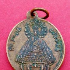 Antigüedades: MEDALLA SIGLO XIX VIRGEN DE ATOCHA. MADRID. CRISTO DE LA INDULGENCIA.. Lote 237454965