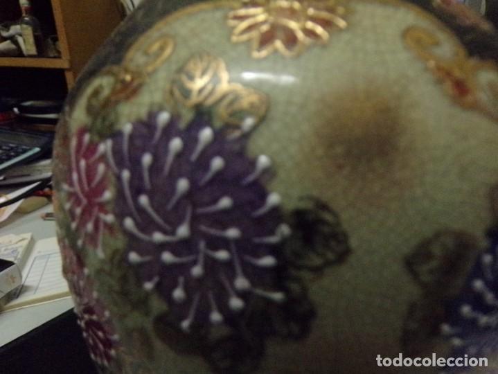 Antigüedades: precioso jarron porcelana de japon pintado a mano satsuma con bonita marca en la base - Foto 3 - 237466390