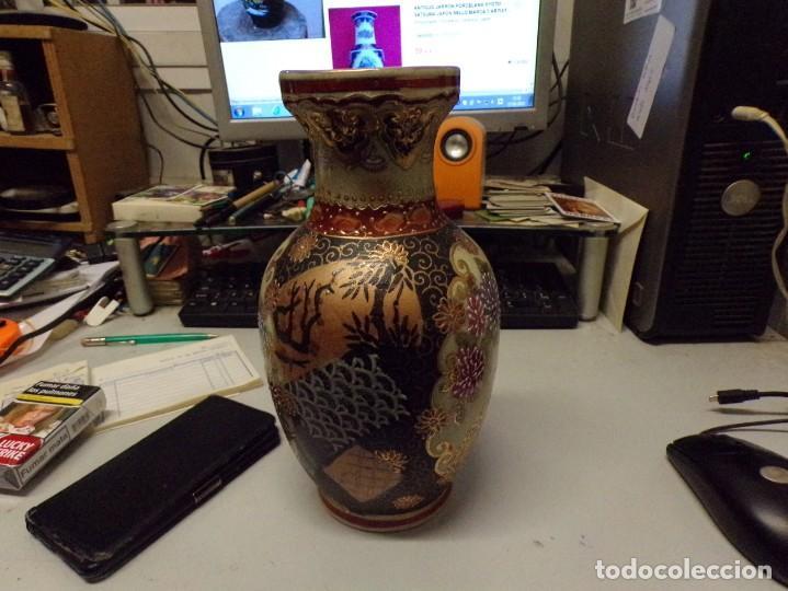 Antigüedades: precioso jarron porcelana de japon pintado a mano satsuma con bonita marca en la base - Foto 6 - 237466390