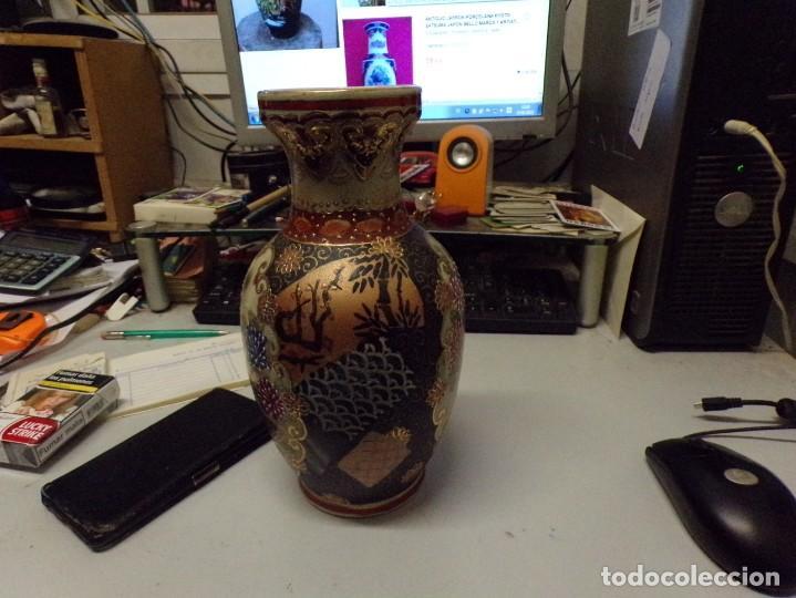 Antigüedades: precioso jarron porcelana de japon pintado a mano satsuma con bonita marca en la base - Foto 8 - 237466390