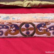 Antigüedades: ALIZAR / AZULEJO ANTIGUO DE TOLEDO - SIGLO XVI - RENACIMIENTO - CUERDA SECA.. Lote 237491850