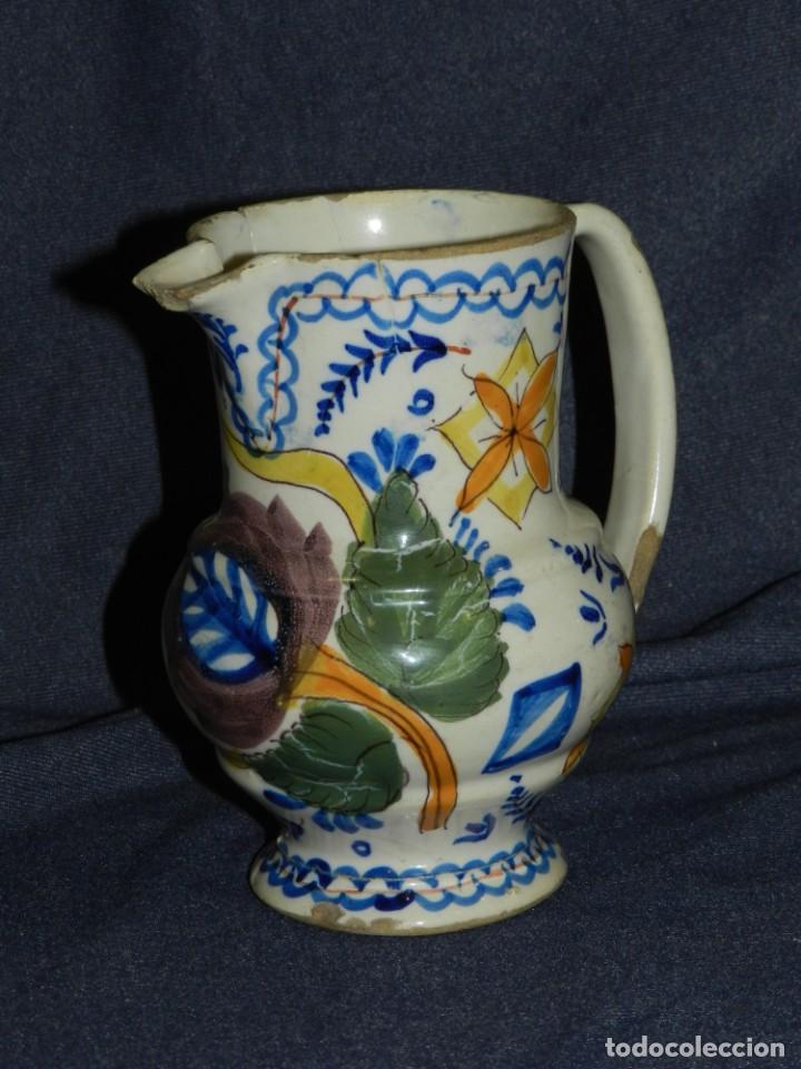 (M) JARRA RIBESALBES O MANISES,ANTIGUA S.XIX,TIENE UN PELO,VER FOTOS,16 CM. ALTURA (NO COPIA) (Antigüedades - Porcelanas y Cerámicas - Ribesalbes)