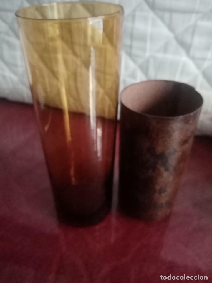 Antigüedades: Vaso de tubo, ámbar, duralex, don quijote - Foto 3 - 237523740