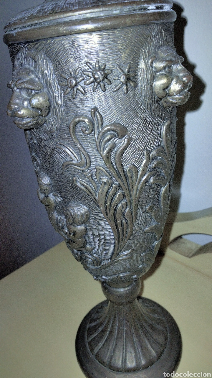 Antigüedades: PAREJAS DE JARRITAS EN METAL CON GRABADOS - Foto 9 - 237562045