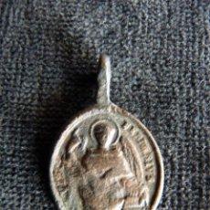 Antigüedades: ANTIGUA MEDALLA S. VICENTE FERRER Y N.S. ROSARIO. XVII (7). Lote 237624580