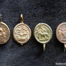 Antigüedades: LOTE DE 4 ANTIGUAS MEDALLAS PARA ROSARIO. S. XVII-XVIII (12). Lote 237625015
