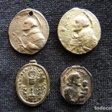Antigüedades: LOTE DE 4 ANTIGUAS MEDALLAS. S. XVIII (13). Lote 237625135