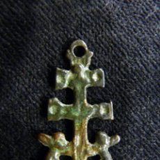 Antigüedades: ANTIGUA CRUZ DE CARAVACA. BRONCE. S.XVII-XVIII (30). Lote 237627555