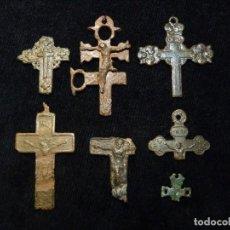 Antigüedades: LOTE DE 7 ANTIGUOS FRAGMENTOS DE CRUZ. BRONCE. S.XVI-XIX (31). Lote 237627630
