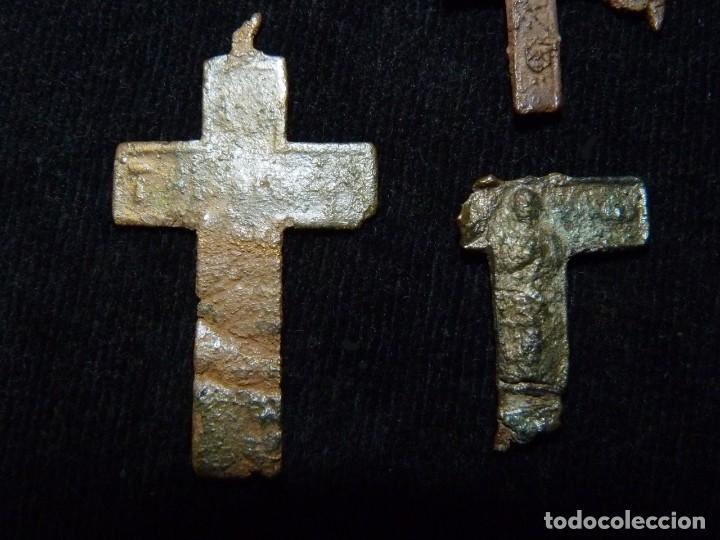 Antigüedades: LOTE DE 7 ANTIGUOS FRAGMENTOS DE CRUZ. BRONCE. S.XVI-XIX (31) - Foto 6 - 237627630
