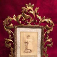 Antigüedades: ESPECTACULAR MARCO DE BRONCE. DIMENSIONES: 42X31 CM. APROX 2,5 KG.. Lote 237640525