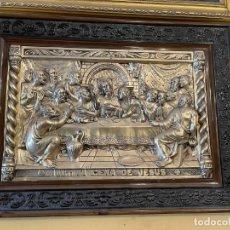 Antigüedades: CUADRO DE LA ULTIMA CENA DE ALPACA. Lote 237656380